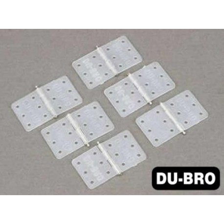 DUB118 Aircrafts Parts & Accessories - Small Nylon Hinges (6 pcs per package)