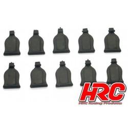 HRC2041BK Grip pour clips de carrosseries - pour clips 1/10 - Noir (10 pces)