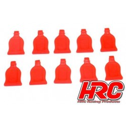 HRC2041RE Grip pour clips de carrosseries - pour clips 1/10 - Rouge (10 pces)