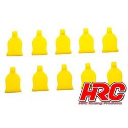 HRC2041YE Grip pour clips de carrosseries - pour clips 1/10 - Jaune (10 pces)