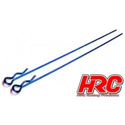 HRC2070BL Clips de carrosserie - 1/10 - longs - petite boucle - Bleu (10 pces)