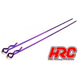 HRC2070PU Clips de carrosserie - 1/10 - longs - petite boucle - Purple (10 pces)