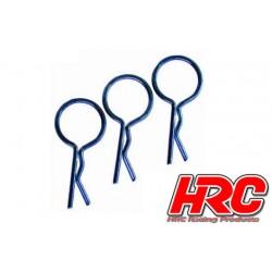 HRC2072BL Clips de carrosserie - 1/10 - courts - large boucle - Bleu (10 pces)