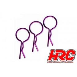HRC2072PU Clips de carrosserie - 1/10 - courts - large boucle - Purple (10 pces)