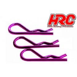 HRC2073PU Clips de carrosserie - 1/8 - courts - petite boucle - Purple (10 pces)