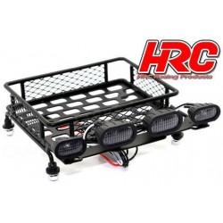 HRC25077BK Pièces de carrosserie - Accessoires 1/10 - Scale - Petite Galerie - avec éclairage LEDs – Noir