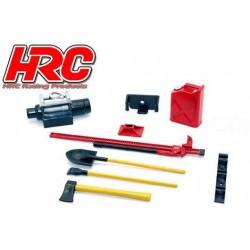 HRC25094A Pièces de carrosserie - Accessoires 1/10 - Scale - Set d'outils A - Couleur civile