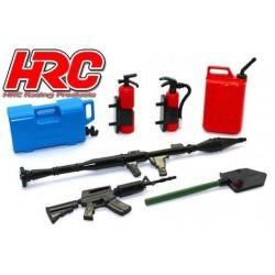 HRC25094F Pièces de carrosserie - Accessoires 1/10 - Set d'outils F