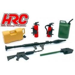 HRC25094G Pièces de carrosserie - Accessoires 1/10 - Set d'outils G