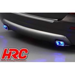 HRC25113C Pièces de carrosserie - Accessoires 1/10 - Scale - Echappement Factice - LED compatible - Type simple (2 pces)