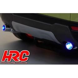HRC25113D Pièces de carrosserie - Accessoires 1/10 - Scale - Echappement Factice - LED compatible - Type simple (2 pces)