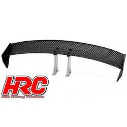 HRC25120G Pièces de carrosserie - Accessoires 1/10 - Scale - Touring / Drift Aileron arrière - Finition Carbone - Type G