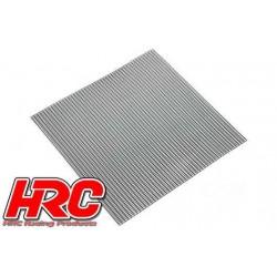 HRC25401C Piéces de carrosserie - Accessoires 1/10 - Scale - Acier Inox - Grille de prise d'air modifiée – 100x100mm
