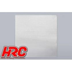 HRC25401D Piéces de carrosserie - Accessoires 1/10 - Scale - Acier Inox - Grille de prise d'air modifiée - 100x100mm