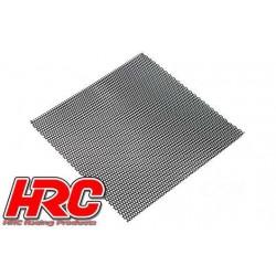 HRC25401G Piéces de carrosserie - Accessoires 1/10 - Scale - Acier Inox - Grille de prise d'air modifiée - 100x100mm