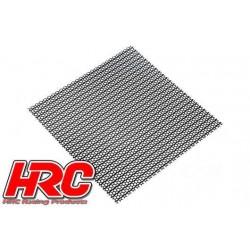 HRC25401H Piéces de carrosserie - Accessoires 1/10 - Scale - Acier Inox - Grille de prise d'air modifiée - 100x100mm