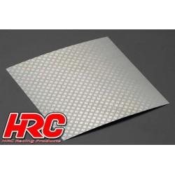 HRC25401J Piéces de carrosserie - Accessoires 1/10 - Scale - Acier Inox - Grille de prise d'air modifiée - 100x100mm