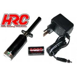 HRC3085B Chauffe bougie - avec accu et vue-mètre - 5000 mAh - avec chargeur – Noir