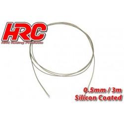 HRC31271B05 Câble en acier - 0.5mm - Enduit de silicone - soft – 3m