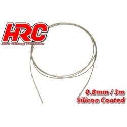 HRC31271B08 Câble en acier - 0.8mm - Enduit de silicone - soft – 3m