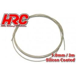 HRC31271B10 Câble en acier - 1.0mm - Enduit de silicone - soft – 3m