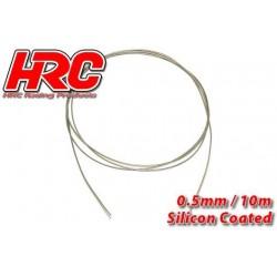 HRC31271C05 Câble en acier - 0.5mm - Enduit de silicone - soft – 10m