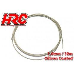 HRC31271C10 Câble en acier - 1.0mm - Enduit de silicone - soft – 10m