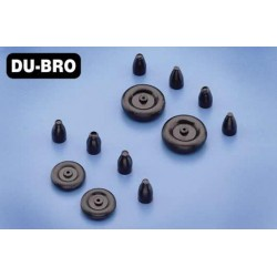 DUB12MTW Piece d'avion - Roues - 13mm (1/2'') - Micro Tail (2 pcs)