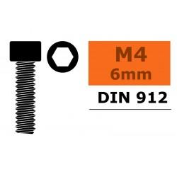 GF-0100-023 Vis à tête cylindrique - Six-pans - M4X6 - Acier - 10 pcs