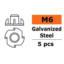 GF-0149-004 Ecrou blindée - M6 - Acier galvanisée - 5 pcs