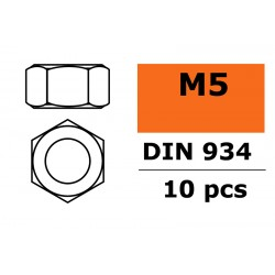 GF-0150-006 Ecrou hexagonal - M5 - Acier galvanisée - 10 pcs
