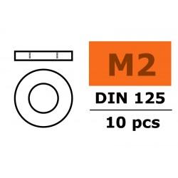 GF-0154-002 Rondelles - M2 - Acier galvanisée - 10 pcs