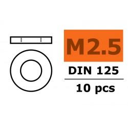 GF-0154-003 Rondelles - M2,5 - Acier galvanisée - 10 pcs
