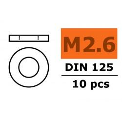 GF-0154-004 Rondelles - M2,6 - Acier galvanisée - 10 pcs
