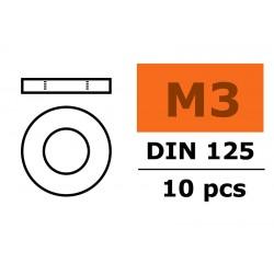 GF-0154-005 Rondelles - M3 - Acier galvanisée - 10 pcs