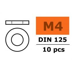 GF-0154-006 Rondelles - M4 - Acier galvanisée - 10 pcs
