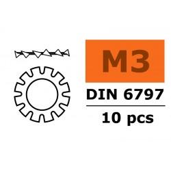 GF-0155-002 Rondelles autobloquantes - M3 - Acier galvanisée - 10 pcs