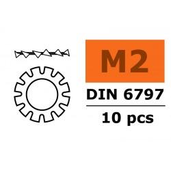GF-0155-001 Rondelles autobloquantes - M2 - Acier galvanisée - 10 pcs