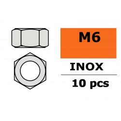 GF-0250-006 Ecrou hexagonal - M6 - Inox - 10 pcs