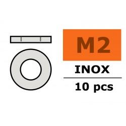 GF-0254-002 Rondelles - M2 - Inox - 10 pcs