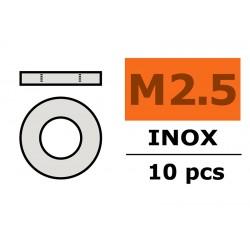 GF-0254-003 Rondelles - M2,5 - Inox - 10 pcs