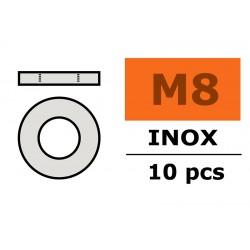 GF-0254-008 Rondelles - M8 - Inox - 10 pcs