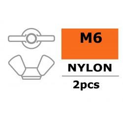 GF-0304-003 Ecrou papillon - M6 - Nylon - 2 pcs