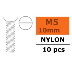 GF-0311-010 Vis à  tête conique - M5X10 - Nylon - 5 pcs