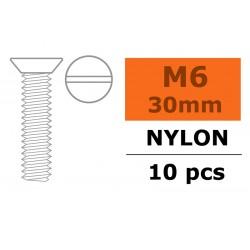 GF-0311-014 Vis à tête conique - M6X30 - Nylon - 5 pcs
