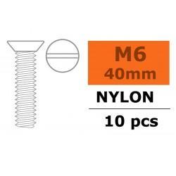 GF-0311-015 Vis à tête conique - M6X40 - Nylon - 5 pcs
