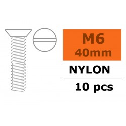 GF-0311-015 Vis à  tête conique - M6X40 - Nylon - 5 pcs