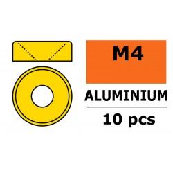 GF-0405-040 Rondelles aluminium - pour vis M4 à tête conique - Ø10mm - Or - 10 pcs