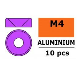 GF-0405-042 Rondelles aluminium - pour vis M4 à tête conique - Ø10mm - Violet - 10 pcs