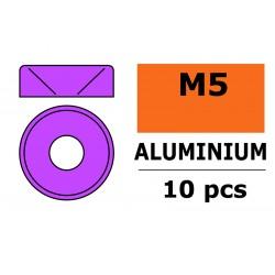 GF-0405-052 Rondelles aluminium - pour vis M5 à tête conique - Ø12mm - Violet - 10 pcs